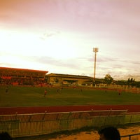 Photo taken at สนามกีฬากลางจังหวัดประจวบคีรีขันธ์ by oppo l. on 5/19/2013
