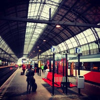 Photo taken at Amsterdam Centraal Railway Station by Serbülent P. on 4/11/2013