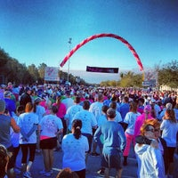 Photo taken at Susan G Komen Race For The Cure by Birgit P. on 3/8/2014