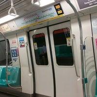 Photo taken at Marina Bay MRT Interchange (NS27/CE2) by KýlęAārön🌹 ك. on 6/17/2016