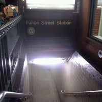 Photo taken at MTA Subway - Fulton St (G) by Roger B. on 5/29/2014
