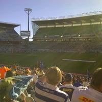 Photo taken at Free State Stadium (Vodacom Park) by Rudi K. on 4/6/2013