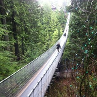 Photo taken at Capilano Suspension Bridge by Костя О. on 1/1/2013