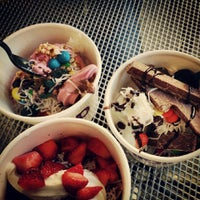 Photo taken at FroZenYo by Mariam C. on 10/20/2013