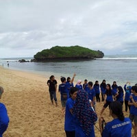 Photo taken at Sadranan Beach - Yogyakarta by El L. on 6/9/2013