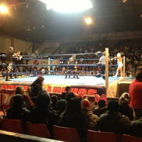 Photo taken at Arena Adolfo Lopez Mateos by Roger B. on 12/2/2012