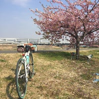 Photo taken at 鶴見川青少年サイクリングコース始点 by meiyun on 3/5/2016