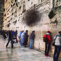 Photo taken at The Western Wall (Kotel) by Ilya A. on 3/9/2013