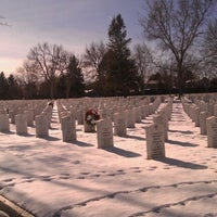 Photo taken at Fort Logan National Cemetery by Brooklyn D. on 1/9/2012