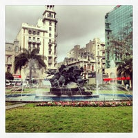 Photo taken at Plaza Fabini by Fede C. on 8/22/2013