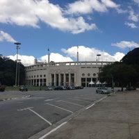 Photo taken at Estádio Municipal Paulo Machado de Carvalho (Pacaembu) by Alexandrino F. on 4/6/2013