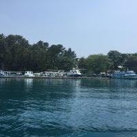 Photo taken at Pulau Pramuka by Nik H. on 12/25/2014