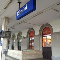 Photo taken at Stazione Rimini by Olga U. on 1/12/2013