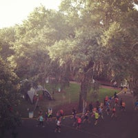 Photo taken at Rock n Roll Savannah Marathon Start by Trent K. on 11/9/2013
