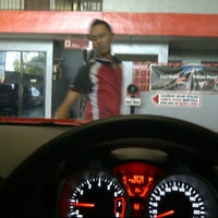 Photo taken at in N out Drive Thru Car Wash by novia on 10/13/2012
