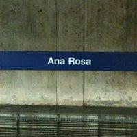Photo taken at Estação Ana Rosa (Metrô) by Dante V. on 2/28/2013
