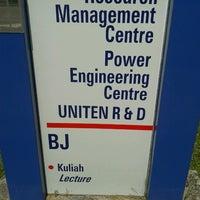 Photo taken at Universiti Tenaga Nasional (UNITEN) by John K. on 1/14/2013