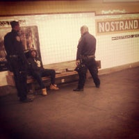 Photo taken at MTA Subway - Nostrand Ave (A/C) by Scottie R. on 10/10/2012