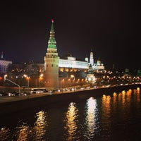 Photo taken at Bolshoy Kamenny Bridge by Маруся М. on 4/3/2013