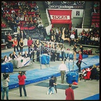 Photo taken at Stegeman Coliseum by Madison E. on 2/2/2013