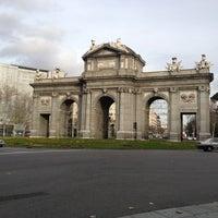 Photo taken at Alcalá Gate by Doris S. on 1/15/2013
