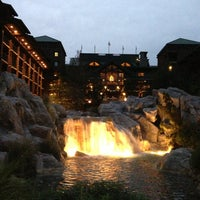 Photo taken at Disney's Wilderness Lodge by Casey G. on 12/24/2012