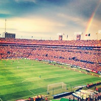 Photo taken at Estadio Universitario by Yadira R. on 8/25/2013