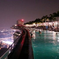 Photo taken at Rooftop Infinity Pool by Nek O. on 9/24/2012