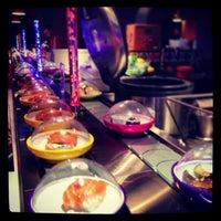 Photo taken at YO! Sushi by Sohee Y. on 3/3/2013