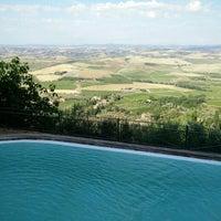 Photo taken at Dei Capitani Hotel Montalcino by Rado Z. on 6/23/2015