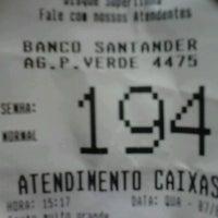 Photo taken at Banco Santander by Alexandro d. on 8/7/2013