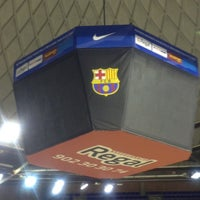 Photo taken at Palau Blaugrana by Cem T. on 3/14/2013