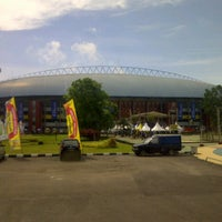 Photo taken at Jakabaring Sport City (JSC) by Andi A. on 4/21/2013