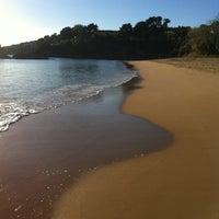 Photo taken at Praia de Espiñeiro by Luis B. on 10/28/2012