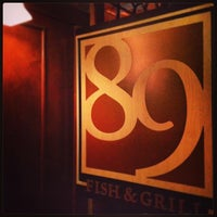 Photo taken at 89 Fish & Grill by Marcus D. on 2/16/2013