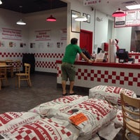 Photo taken at Five Guys by Katie E. on 9/20/2013