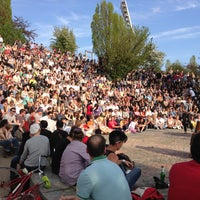 Photo taken at Sonntagskaraoke im Mauerpark by Simon S. on 5/5/2013