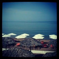 Photo taken at Anemos Beach Bar by Eleni K. on 5/3/2013