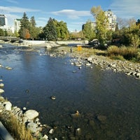 Photo taken at Truckee River by Uday M. on 10/31/2015