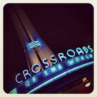 Photo taken at Crossroads of the World by David G. on 4/21/2013