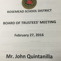 Photo taken at Rosemead School District by John Q. on 2/27/2016