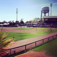 Photo taken at TicketReturn.com Field at Pelicans Ballpark by Travis M. on 4/7/2013