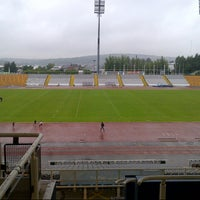 Photo taken at Don Valley Stadium by Florent T. on 7/10/2012