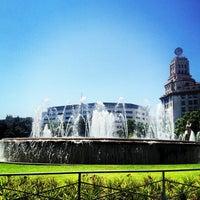 Photo taken at Plaça de Catalunya by eddsos on 7/7/2013