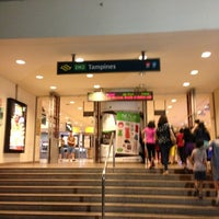 Photo taken at Tampines MRT Station (EW2/DT32) by Stephanie O. on 3/23/2013