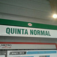 Photo taken at Metro Quinta Normal by Lalito M. on 2/13/2013