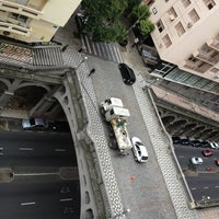 Photo taken at Viaduto Otávio Rocha (Viaduto da Borges) by Pedro K. on 2/22/2013