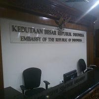 Photo taken at Embassy of the Republic of Indonesia by Azuwar Z. on 6/30/2013