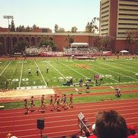 Photo taken at Cromwell Field & Loker Track Stadium by Jason S. on 5/11/2013