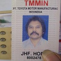 Photo taken at PT. Toyota Motor Manufacturing Indonesia Karawang Plant by Jacob Hope H. on 8/27/2013